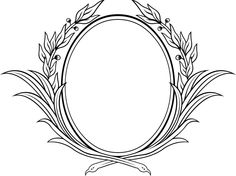 DECORATIVE OVAL FLORAL VECTOR FRAME