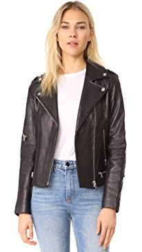 New Soia Kyo Jasmina Moto Leather Jacket online. Find the  great Robert Rodriguez Clothing from top store. Sku novj48282boqe11596