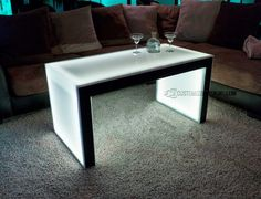 Carbon Series Ultra Modern LED Coffee Table - Shown with Black Finish - Height Coffee Chairs, Old Chairs, Eames Chairs, High Chairs, Led Furniture, Fine Furniture, Modern Furniture, Furniture Ideas, Modern Coffee Tables