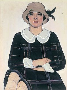 Flapper:  Margaret Preston's portrait of a housemaid with an unflinching gaze (1925, oil on canvas)