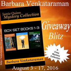 Tome Tender: Barbara Venkataraman's Jamie Quinn Mystery Collection Giveaway Blitz