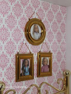 American girl doll photo frames from catalog pictures