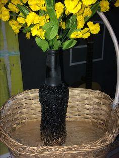 Enfeites de mesa para meu casamento, preto com dourado