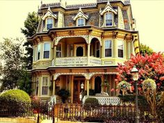 What an incredible Queen Anne style Victorian 3 story beauty.