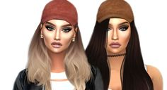 Sims 4 CC's - The Best: Suede Caps by CarmenSanders
