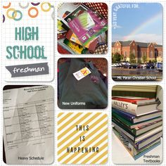 High School Album by papertrail - Cards and Paper Crafts at Splitcoaststampers School Scrapbook, Scrapbook Pages, Highschool Freshman, Project Life Layouts, High School Years, Christian School, Textbook, Digital Scrapbooking, Stampin Up