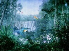 Jungle mural for private residence