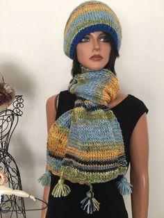 Habd Knits 2 Love Beanie Scarf Shawl Set Slouch Designer Fashion Female Hip Chic  | eBay