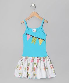 http://www.zulily.com/invite/vhanson979 Take a look at this Turquoise Garland Dress - Infant, Toddler & Girls by Gus & Lola on #zulily today!
