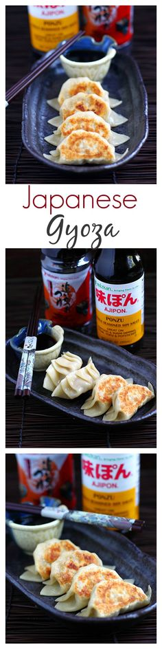 Japanese Gyoza Dumplings - Pan-fried to golden perfection. Learn how to make them with this super easy and fail-proof recipe!