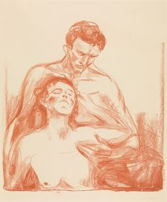 Edvard Munch (1863-1944), To mennesker - 1920