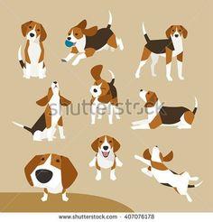 The many poses of a beagle