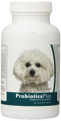 Healthy Breeds Probiotic Plus Digestive Support Chewables,  Bichon Frise  / 60 Count * For more information, visit image link. (This is an affiliate link) #DogSupplementsandVitamins