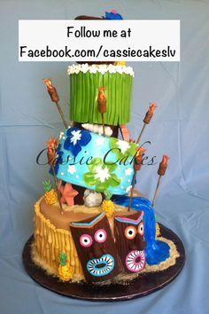 Hawaiian Luau, Tiki Cake