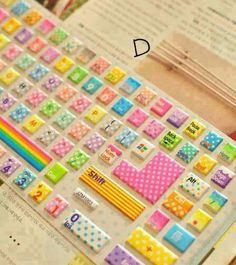 Colorful. Keyboard