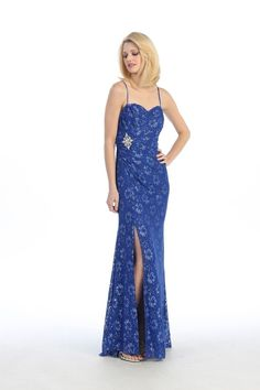 bridesmaid dresses in royal blue lace