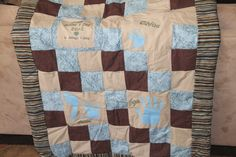 Mother's Day quilt with grandkid's handprint squares