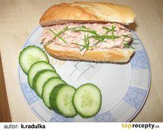 Nejlepší pomazánka na chlebíčky Salmon Burgers, Sandwiches, Food And Drink, Chicken, Ethnic Recipes, Sandwich Spread, Paninis, Cubs