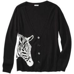 Xhilaration® Juniors Zebra Cardigan - Black (It's adorable, and I love it!)