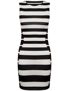 Stripped Celebrity Inspired Illusion Dress Found on MyFameShow.com