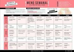 Descarga el menú semanal de recetas saludables sano y saludable pensado para orientar vuestra alimentación.