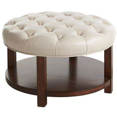 Pop furniture quiz Is Liard A) an ottoman B) a coffee table or C) extra seating? Psst u2026 the answer is D) all of the above. Hand-upholstered in rich bonded ...  sc 1 st  Pinterest & Ottoman Belham Living Dalton Coffee Table Round Tufted Storage ...