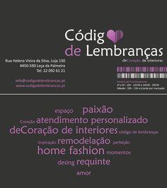 """""""Código de Lembranças"""" business card design"""