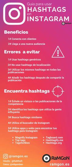 Uso de hashtags en Instagram infografia