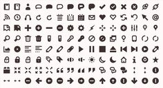 Iconic is an open source icon set consisting of 171 marks in raster, vector and font formats.