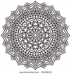 Mandala For Painting. Vector Ethnic Oriental Circle Ornament.  - stock vector