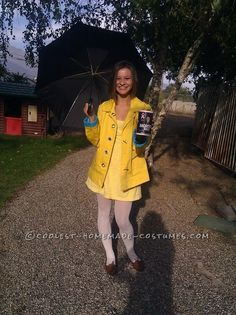 Coolest Homemade Morton Salt Girl Costume