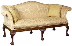 A George II Mahogany Chippendale Camelback Sofa with Claw and Ball Feet, English or Irish, c.1770 | StanleyWeiss.com