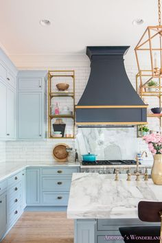 The Truth About Marble... Selecting, Caring and Cleaning Your Marble Countertops from a Pro! Tips, tricks and everything you need to know about marble! How to clean, seal, care for and select countertop material for your next project! marble-counter-top-care-kitchen-blue-white-decor