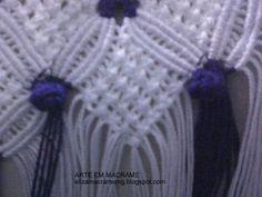 Arte em Macramê e Crochê: Passo a passo barrado em macramê