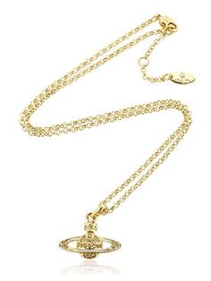 vivienne westwood - women - necklaces - mini crystal orbit pendant necklace