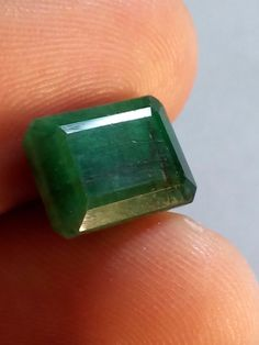 5.20 Cts Natural Emerald Gemstone Brazilian Octagon Shape Ring Size 11X8X7 MM #Unbranded