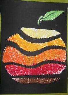 Risultati immagini per activités sur les pommes en maternelle Apple Activities, Autumn Activities, Art Activities, Art Drawings For Kids, Art For Kids, Crafts For Kids, Autumn Crafts, Autumn Art, Kindergarten Art Lessons