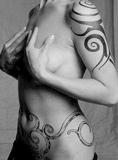 Tribal Tattoo For Women On Shoulder ~ http://tattooeve.com/having-a-beauty-tribal-tattoos-for-women/ Tattoo Ideas