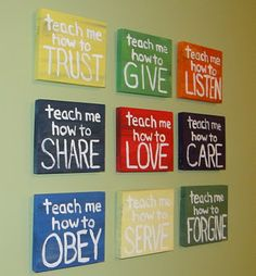 Michelle Gray----here is another idea for that wall in the playroom.incase those PB canvases aren't available anymore :)