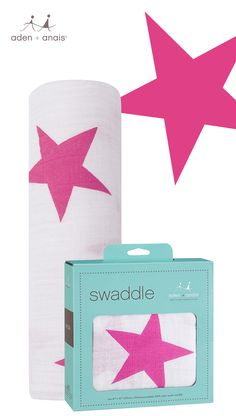 A baby shower and nursery staple, our twinkle pink star cotton muslin swaddle helps simplify mom's life and keeps baby comfy at the same time!