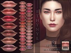 Ethynyl Lipstick Found in TSR Category 'Sims 4 Female Lipstick' Mod Makeup, Face Makeup, Lipstick Colors, Lip Colors, Colours, Sims 4 Cc Furniture, The Sims 4 Download, Sims Resource, The Sims4