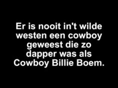 Cowboy Billie Boem - lied over cowboys!