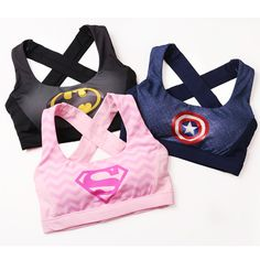 2bf15b4701e5 Online Shop new Sexy Women's Elastic Supergirl Sports Bra Shirts Superman  Women Running Underwear Padded Bra Color Rush Tank Tops