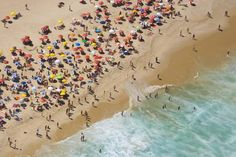 Aerial of large crowd at the Copacabana Beach in Rio de Janeiro. Part of Christie's Boundless: 125 Years of National Geographic Photography Best Summer Vacations, Summer Vacation Spots, Vacations To Go, Copacabana Beach, National Geographic Photography, South Of The Border, South Beach Miami, Beach Scenes, Large Art