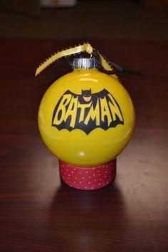 Batman and Joker Painted Ornament Set Dark Knight MADE TO ORDER ...