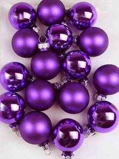 Purple Christmas Ornaments