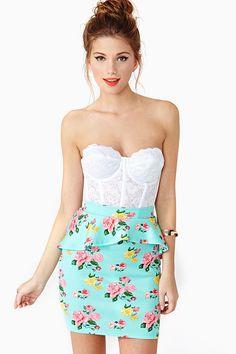 Rosebud Peplum Skirt