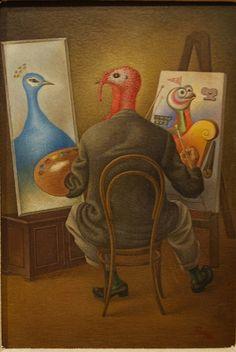 """Autorretrato, Antonio Ruiz """"El Corcito"""" Exp. Temporal """"Vasos Comunicantes: Surrealismo"""", MUNAL D.F."""