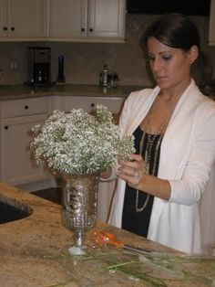 How to on babys breath centerpieces