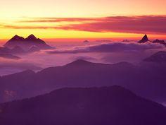 North Cascades at Sunset,Washington